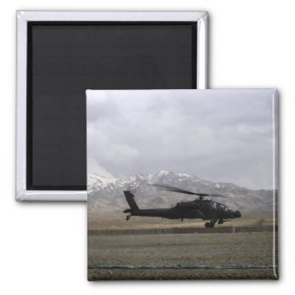 An AH-64A Apache taking off 2 Inch Square Magnet
