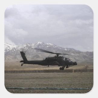 An AH-64A Apache taking off Square Sticker