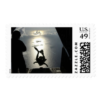 An Air Force pararescueman Postage