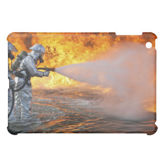 An aircraft rescue firefighting team cover for the iPad mini