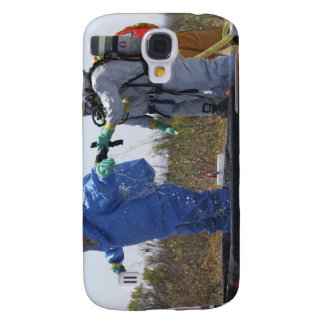 An airman stands in a tub galaxy s4 case