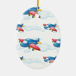 an airplane ceramic ornament