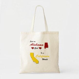 An Alabama Girl in California Budget Tote Bag