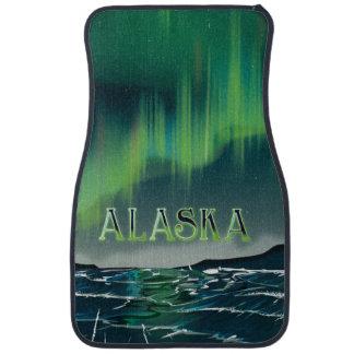An Alaskan Aurora Vintage Travel poster Floor Mat