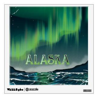 An Alaskan Aurora Vintage Travel poster Wall Decal