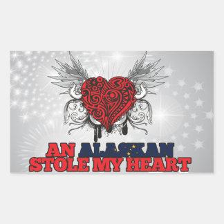 An Alaskan Stole my Heart Rectangular Sticker