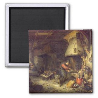 An Alchemist, 1611 2 Inch Square Magnet