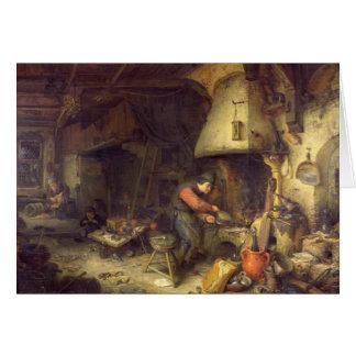 An Alchemist, 1611 Card
