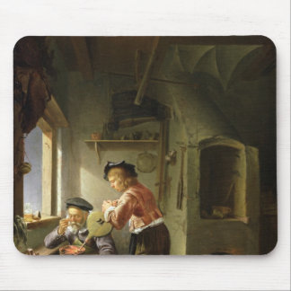 An Alchemist and his Assistant in their Workshop Mouse Pad