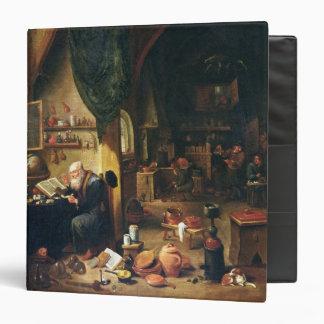 An Alchemist in his Workshop 3 Ring Binder