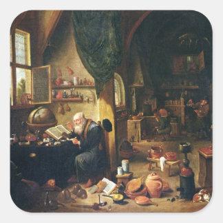 An Alchemist in his Workshop Sticker