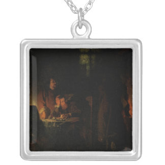 An Alchemist Searching for the Philisopher's Silver Plated Necklace