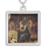 An Alchemist Square Pendant Necklace