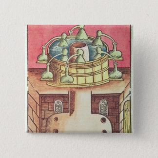 An alchemist's water-bath or bain-marie button