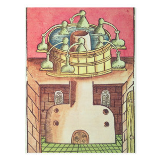 An alchemist's water-bath or bain-marie postcard