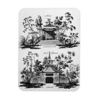 An Alcove and a Cool Retreat, from 'Chinese Archit Rectangular Photo Magnet