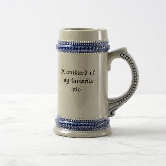 An ale tankard. beer stein