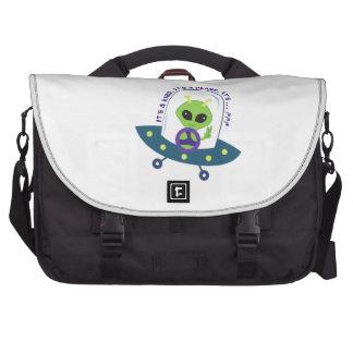 An Alien Laptop Messenger Bag