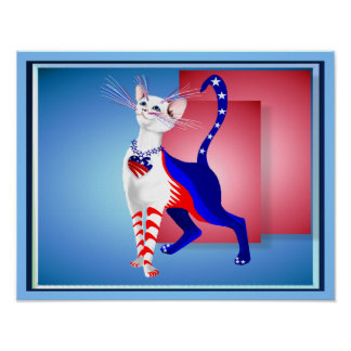 An All American Cat Poster