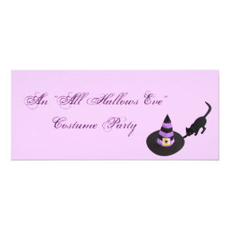 """An """"All Hallows Eve"""" Costume Party Card"""