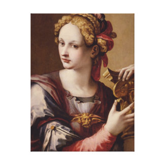 An Allegorical Figure/Michael Tosini Wrapped Canvas Print