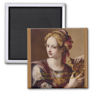 An Allegorical Figure Square Magnet