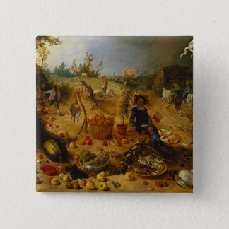 An Allegory of Autumn Pinback Button
