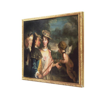 An Allegory of Courtship Canvas Print