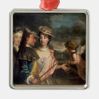 An Allegory of Courtship Christmas Tree Ornament