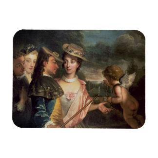 An Allegory of Courtship Rectangle Magnets