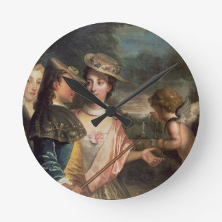 An Allegory of Courtship Round Clock