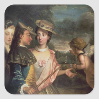 An Allegory of Courtship Square Sticker