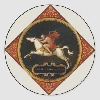 An Allegory of Passion Classic Round Sticker