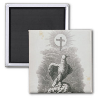 An Allegory of Rome 2 Inch Square Magnet