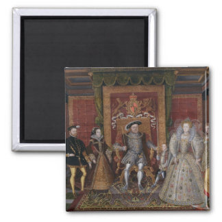 An Allegory of the Tudor Succession: The Family of 2 Inch Square Magnet