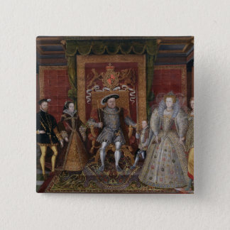 An Allegory of the Tudor Succession: The Family of Pinback Button