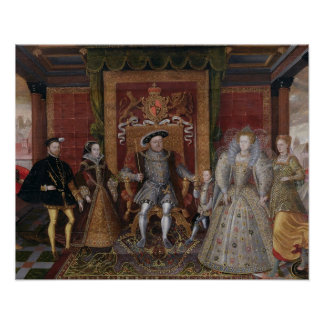 An Allegory of the Tudor Succession: The Family of Poster