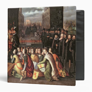An Allegory of the Tyranny of the Duke of Alba 3 Ring Binder