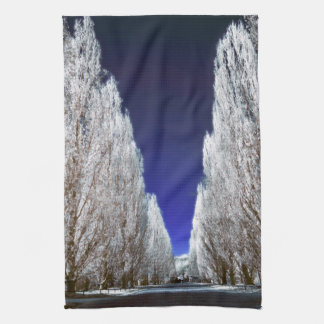 An alley in infrared hand towel