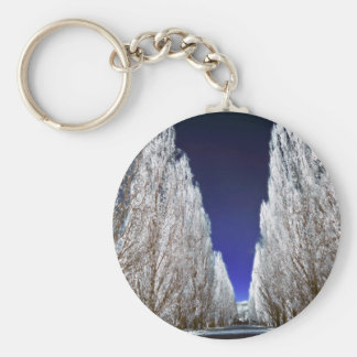 An alley in infrared keychain