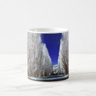 An alley in infrared magic mug
