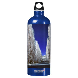 An alley in infrared water bottle