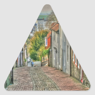 An Alley in Lewes Triangle Sticker