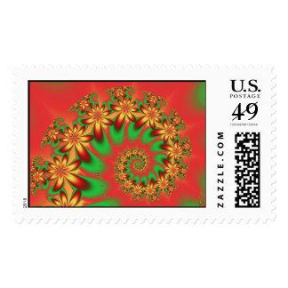 An Aloha Christmas Postage Stamp