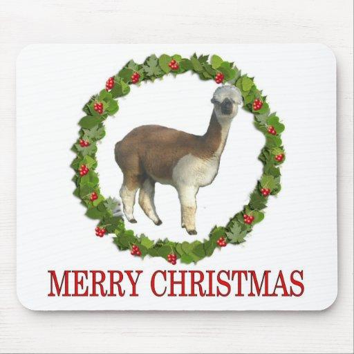 An Alpaca Merry Christmas Mouse Pad
