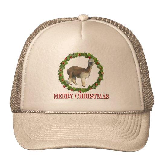An Alpaca Merry Christmas Trucker Hat