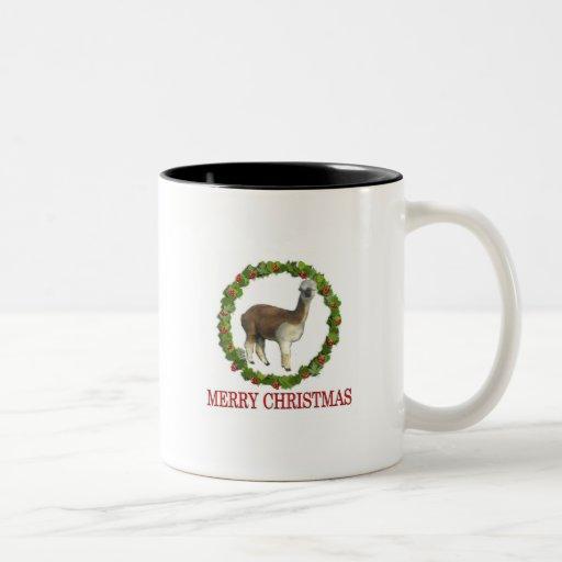 An Alpaca Merry Christmas Two-Tone Coffee Mug