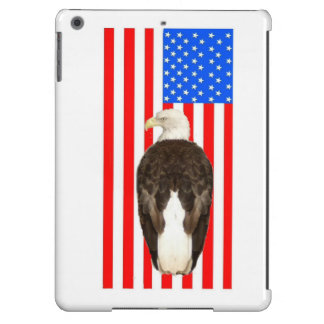 An American Bald Eagle With American Flag iPad Air Covers