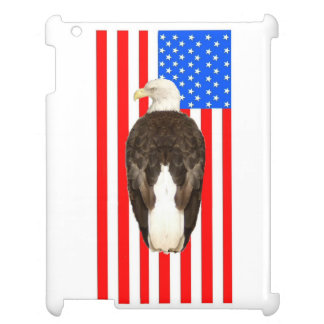 An American Bald Eagle With American Flag iPad Case