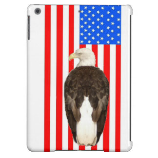 An American Bald Eagle With an American Flag Cover For iPad Air